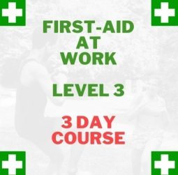 first aid at work 3 day course